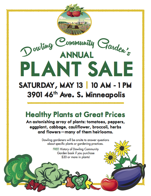 Annual Plant Sale -- Saturday, May 13, 2017 -- 10 AM - 1:00 PM